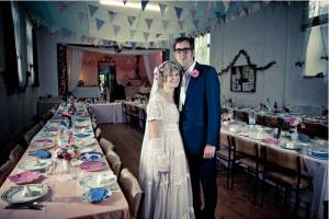 Rosie and James on their Wedding Day