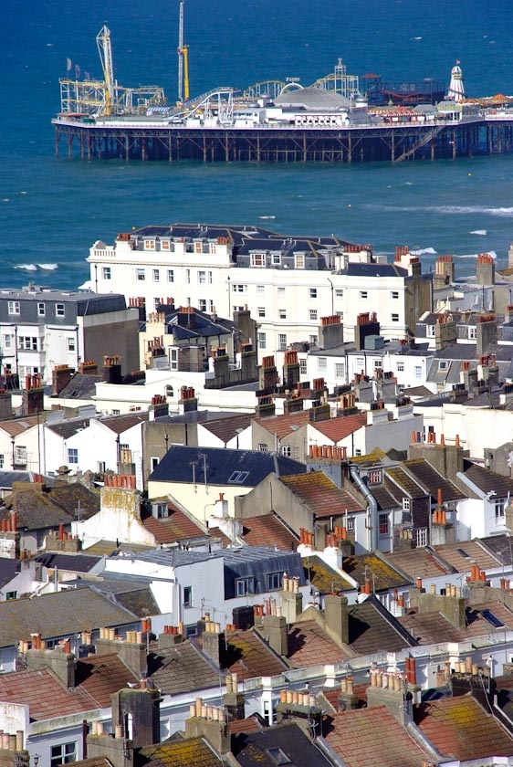 Brighton Pier viewed from West Hill