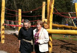 Lucy Grout and Mayor Ann Norman