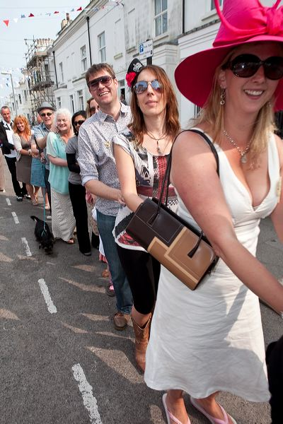 Revellers in the Conga Line © Pete Jones
