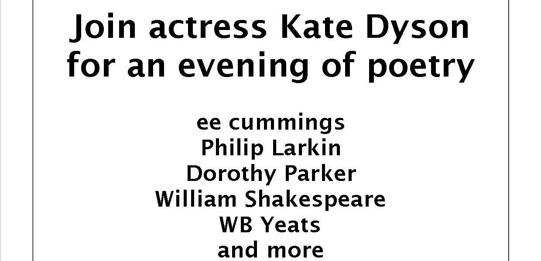 Kate Dyson Poetry Recital