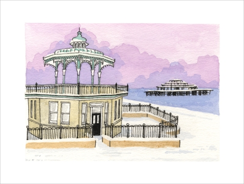 Wintry Bandstand by Clare Harms