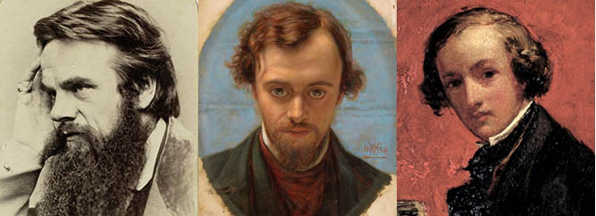 William Holman Hunt, Dante Gabriel Rossetti, Sir John Everett Millais