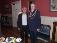 Vinod with Mayor Brian Fitch