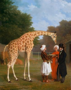 The Nubian Giraffe<br/> Jacques-Laurent Agasse, 1827