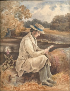 Victorian watercolour circa 1840 reputed to be John Clare Artist unknown