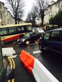 Chaos at Upper Gloucester Road / Buckingham Road