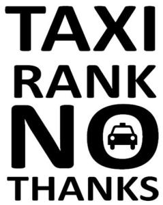 Taxi no thanks
