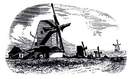 Dyke Road Mills, 1847 Preston, Port Hall, Lashmar's and Hodson's Mills  from an engraving in Brighton & Hove Archaeologist 1924