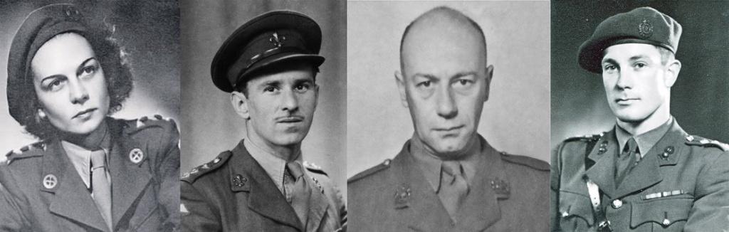 Lt Jacqueline Nearn CdeG, MBE, Capt Michael Trotobas, Capt Edward Zeff MBE, CdeG, Capt Ronald Taylor