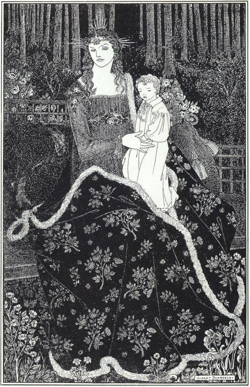A Large Christmas Card 1895 by Aubrey Beardsley